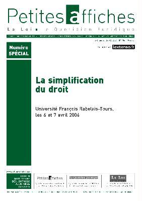 LERAD - simplification du droit, couverture